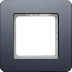 Рамка 1 пост Berker Q.7, алюминий бархатный, 10116074