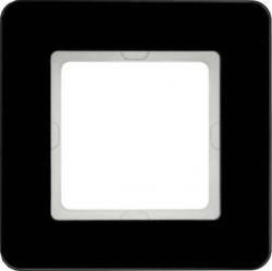 Рамка 1 пост Berker Q.7, черное стекло, 10116076