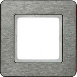 Рамка 1 пост Berker Q.7, нержавеющая сталь, 10116083