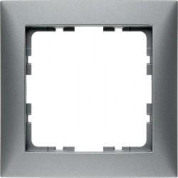 Рамка 1 пост Berker S.1, алюминий матовый, 10119939