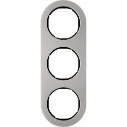Рамка 3 поста Berker R.CLASSIC, нержавеющая сталь, 10132004