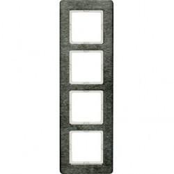 Рамка 4 поста Berker Q.7, вертикальная, нержавеющая сталь, 10146083