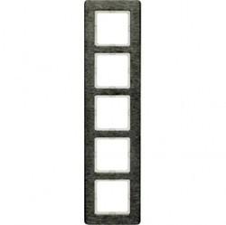 Рамка 5 постов Berker Q.7, вертикальная, нержавеющая сталь, 10156083