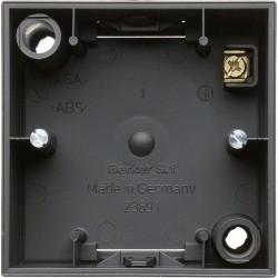 S.1 Коробка для открыт. монтажа 1-ная, антрацит матовый