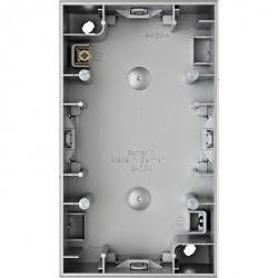 K.1/K.5 Коробка для наружн. монтажа 2-ная вертикальн., металл Алюминий