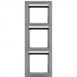 Рамка 3 поста Berker Q.3, вертикальная, черный бархат, 10536086