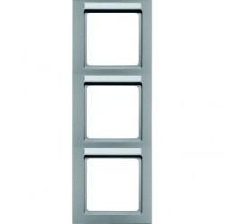 Рамка 3 поста Berker Q.3, вертикальная, алюминий бархатный, 10536094