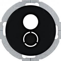 Накладка на аудиорозетку Berker R.CLASSIC, черный блестящий, 11962035