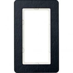 Рамка с большим вырезом Berker Q.7, вертикальная, сланец натуральный, 13096030