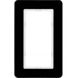 Рамка с большим вырезом Berker Q.7, вертикальная, черное стекло, 13096076