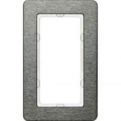 Рамка с большим вырезом Berker Q.7, вертикальная, нержавеющая сталь, 13096083
