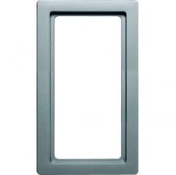 Рамка с большим вырезом Berker Q.1, вертикальная, алюминий бархатный, 13096084