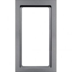 Рамка с большим вырезом Berker Q.3, вертикальная, алюминий бархатный, 13096094