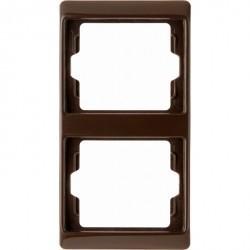 Рамка 2 поста Berker ARSYS, вертикальная, коричневый блестящий, 13230001