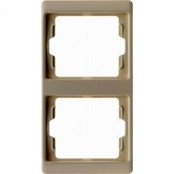 Рамка 2 поста Berker ARSYS, вертикальная, бежевый, 13230002
