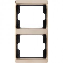Рамка 2 поста Berker ARSYS, вертикальная, медь, 13230007