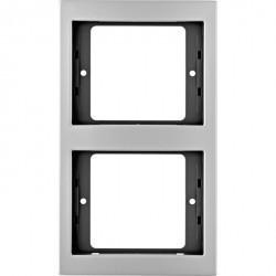 Рамка 2 поста Berker, вертикальная, алюминий, 13237003