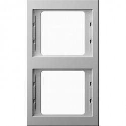 Рамка 2 поста Berker, вертикальная, белый, 13237009