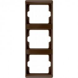 Рамка 3 поста Berker ARSYS, вертикальная, коричневый блестящий, 13330001