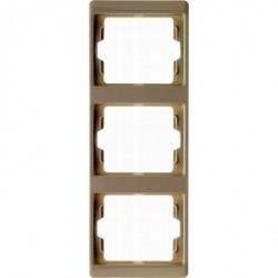 Рамка 3 поста Berker ARSYS, вертикальная, бежевый, 13330002
