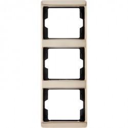 Рамка 3 поста Berker ARSYS, вертикальная, медь, 13330007