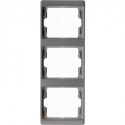 Рамка 3 поста Berker ARSYS, вертикальная, белый, 13330069
