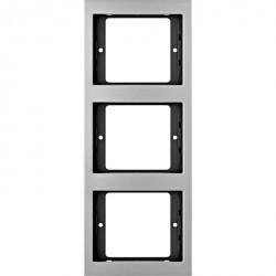 Рамка 3 поста Berker, вертикальная, алюминий, 13337003