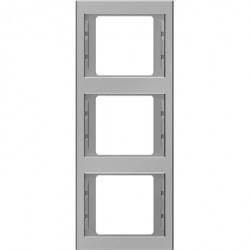 Рамка 3 поста Berker, вертикальная, нержавеющая сталь, 13337004