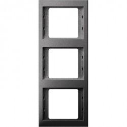 Рамка 3 поста Berker, вертикальная, антрацит матовый, 13337006