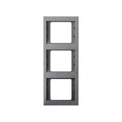 Рамка 3 поста Berker, вертикальная, алюминий матовый, 13337024