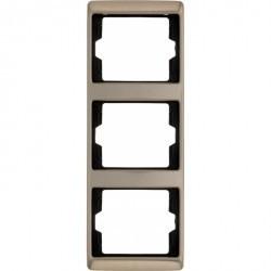 Рамка 3 поста Berker ARSYS, вертикальная, светло-бронзовый, 13340001