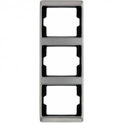 Рамка 3 поста Berker ARSYS, вертикальная, стальной, 13340004