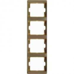 Рамка 4 поста Berker ARSYS, вертикальная, бежевый, 13430002