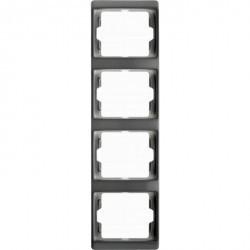 Рамка 4 поста Berker ARSYS, вертикальная, белый, 13430069