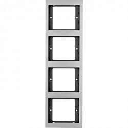 Рамка 4 поста Berker, вертикальная, алюминий, 13437003