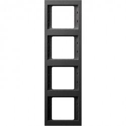 Рамка 4 поста Berker, вертикальная, антрацит матовый, 13437006