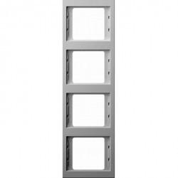 Рамка 4 поста Berker, вертикальная, белый, 13437009