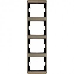 Рамка 4 поста Berker ARSYS, вертикальная, светло-бронзовый, 13440001