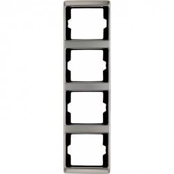 Рамка 4 поста Berker ARSYS, вертикальная, стальной, 13440004