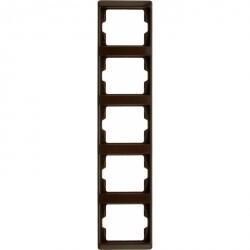 Рамка 5 постов Berker ARSYS, вертикальная, коричневый блестящий, 13530001