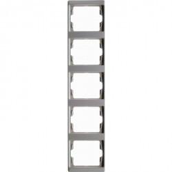Рамка 5 постов Berker ARSYS, вертикальная, белый, 13530069