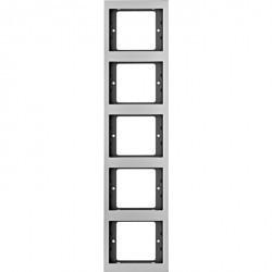 Рамка 5 постов Berker, вертикальная, алюминий, 13537003