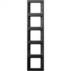 Рамка 5 постов Berker, вертикальная, антрацит матовый, 13537006