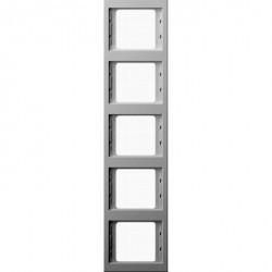 Рамка 5 постов Berker, вертикальная, белый, 13537009