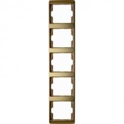 Рамка 5 постов Berker ARSYS, вертикальная, золото светлое, 13540002