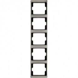 Рамка 5 постов Berker ARSYS, вертикальная, стальной, 13540004