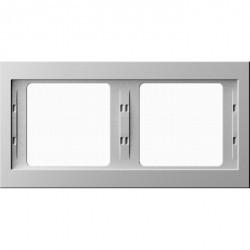 Рамка 2 поста Berker, горизонтальная, белый, 13637009