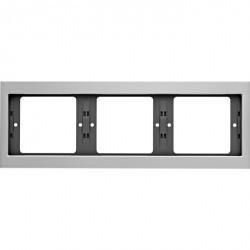 Рамка 3 поста Berker, горизонтальная, алюминий, 13737003