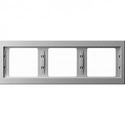 Рамка 3 поста Berker, горизонтальная, белый, 13737009