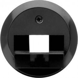 Накладка на розетку информационную Berker 1930, черный блестящий, 140701